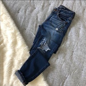 American eagle factory distressed jegging sz.0